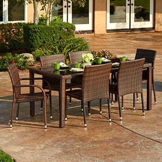 Toria 7-piece Outdoor Wicker Dining Set