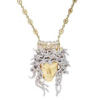 18k Yellow Gold 4.75ct TDW Giant Medusa Diamond Estate Necklace (G-H/Yellow, VS1-VS2)