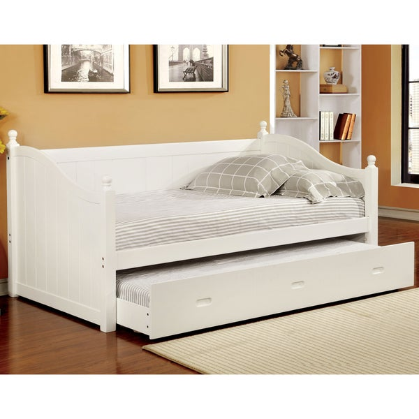Overstock Daybeds With Trundle : Furniture of america cornelia cottage style trundle daybed