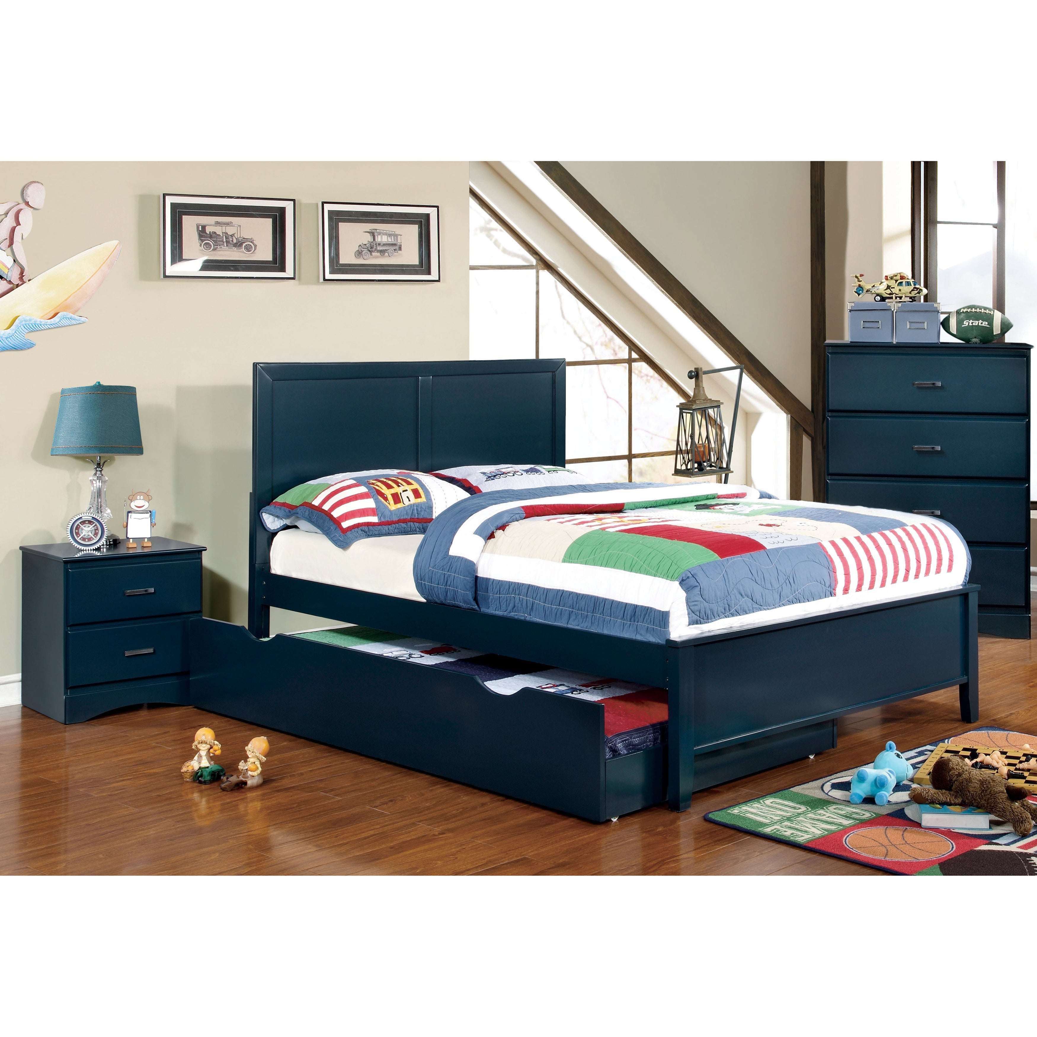 furniture of america colorpop 4 piece full size youth