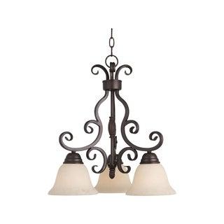 Manor Bronze 3-light Chandelier