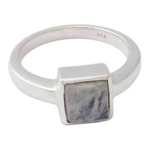 Handcrafted Sterling Silver 'Perfection' Moonstone Ring (India)