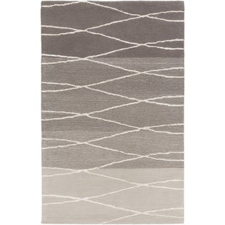 GlucksteinHome :Hand-Tufted Fatima Geometric Wool Rug (8' x 11')