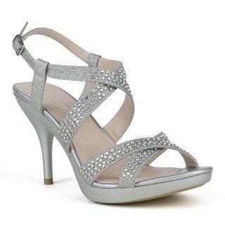 Celeste Women's 'Lynn-03' Rhinestone-studded Strappy Sandals