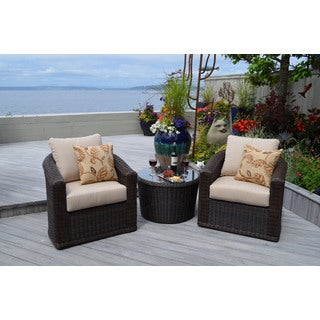 Astoria 3-piece Swivel Balcony Chat Group Furniture Set