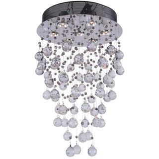 Joshua Marshal 700063-001 7-light Chrome Round Pendant with Crystals