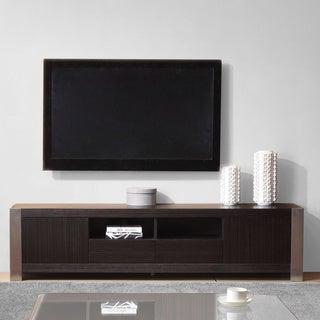 'Maya' Grey Ebony Veneer/ Stainless Steel Modern TV Stand