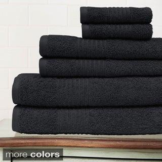 Egyptian Cotton 6-piece Solid Towel Set