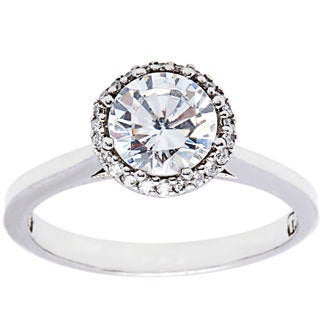 Tacori Platinum Cubic Zirconia 1/6ct TDW Diamond Ring (G-H,VS1-VS2)
