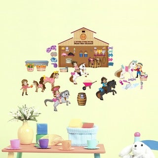 Horse Friends Interactive Peel and Play Wall Set