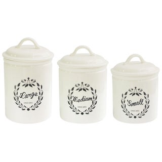 Chateaux Round Canisters (Set of 3)