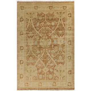 Hand-Knotted Darrell Floral New Zealand Wool Rug (5'6 x 8'6)