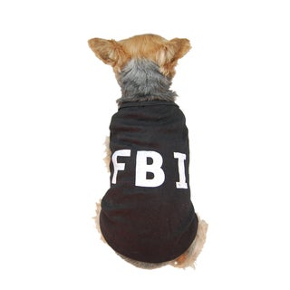 Anima Black FBI Dog Tank Top for Small Dogs