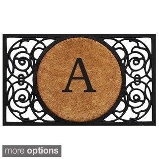 Armada Circle Monogram Doormat (1'6 x 2'6)