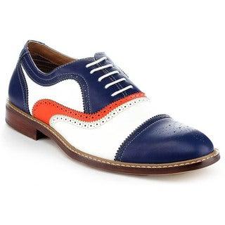 Ferro Aldo Men's MFA-19355 Blue Colorblocked Oxford Shoes