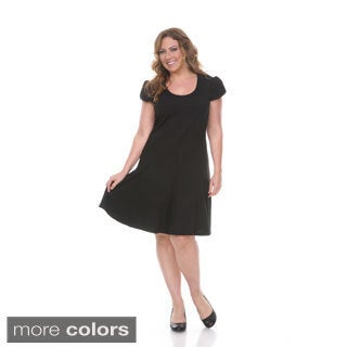 Women's Plus-size 'Cara' Short Sleeve Dress