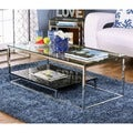 Furniture of America Deitie Modern Chrome Coffee Table