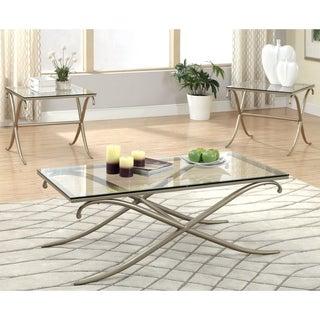 Furniture of America Visconti Contemporary 3-Piece Accent Table Set