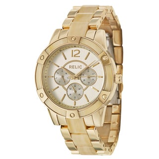 Relic by Fossil Women's 'Payton' Goldplated Stainless Steel Quartz Watch
