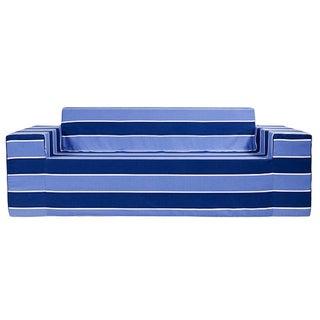 Softblock BlueBerry Blue Striped Sofa