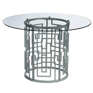 Greek Key Silver Dining Table