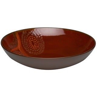 Red Vanilla Organic Brown Serving Bowl