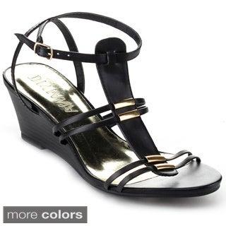 Diviana 'Nicki-20' Women's Criss-cross Ankle Strap Wedges