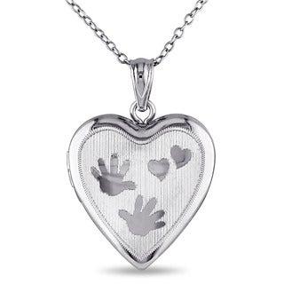 Miadora Sterling Silver Heart Locket Necklace
