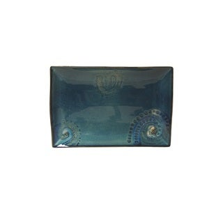 Red Vanilla Organic Blue 4-piece Rectangular Plate Set