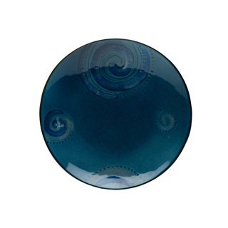 Red Vanilla Organic Blue 2-piece Charger Plate Set