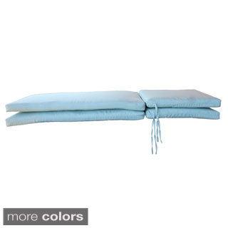 Sunbrella Designer Knife Edge Chaise Lounge Cushions (Set of 2)