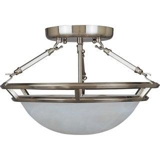Stratus Pewter Iron 3-light Semi-flush Mount
