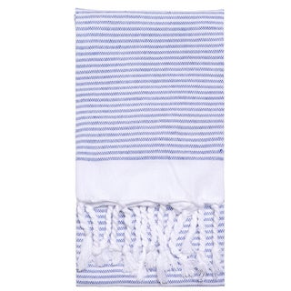 Turkish Cotton Lapiz Striped Fouta Hand Towel