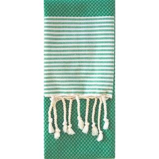 Turkish Cotton Striped Color Block Hand Towel