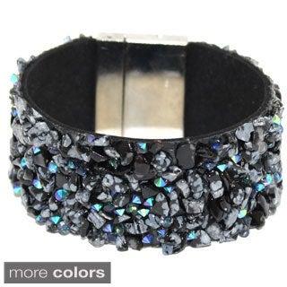 Bleek2Sheek Gemstone and Crystal Magnetic Cuff Bracelet