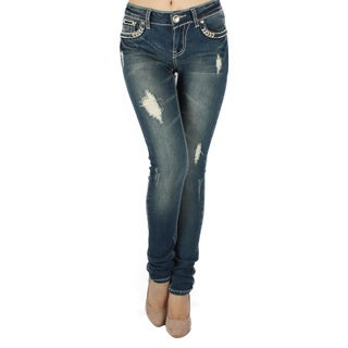 Sexy Couture 'S22-PS' Women's Mid-rise Skinny Jeans