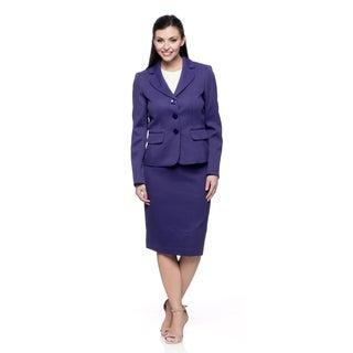 Evan Picone Women's Passion Purple 2-piece Skirt Suit