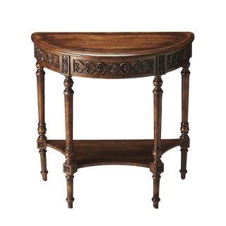 Hand-painted Dark Toffee Demilune Table