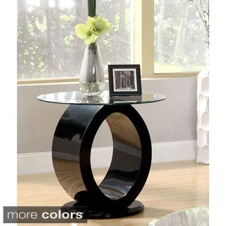 Furniture of America Opelle Modern O-Shaped End Table