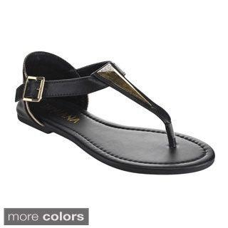 Diviana Women's Moira-5 Buckle Strap Sandals