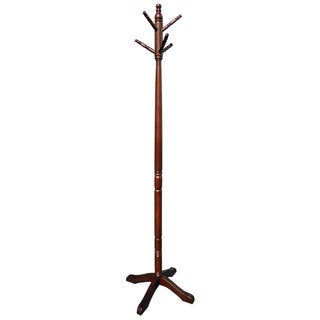 Hand-crafted Mahogany Colonial Coat/ Hat Rack (Indonesia)