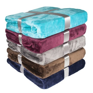 Soft and Plush Solid Throw Blanket