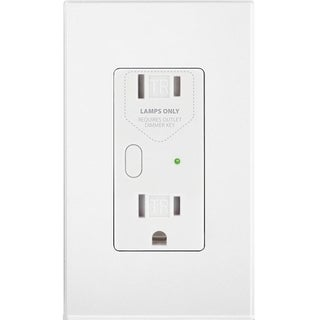 Insteon OutletLinc Dimmer - Remote Control Outlet (Dual Band), White
