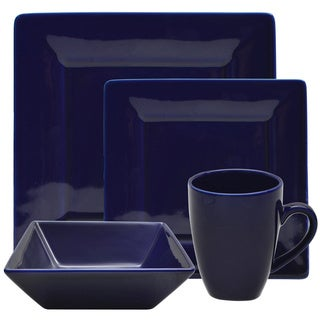 vivo 16 piece cobalt square dinner set sale save 10