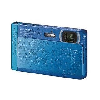 Sony Cyber Shot DSC-TX30 Waterproof 18.2MP Blue Digital Camera