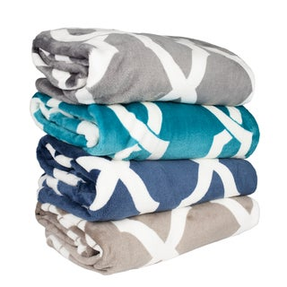 Soft and Plush Printed Throw Blanket