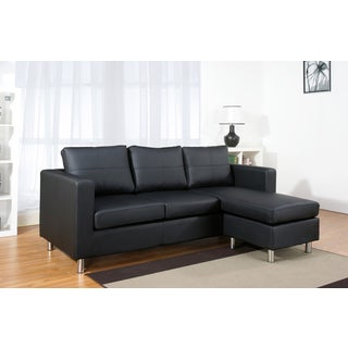 ABBYSON LIVING Bella Black PU Leather Sectional