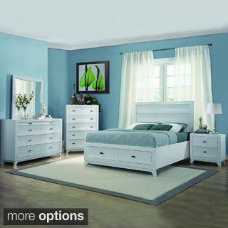 Akeela Contemporary Black or White Platform Storage 5-piece Bedroom Set