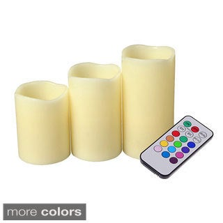 As Seen On TV LED3-piece Mood Candles with Remote