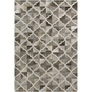 Hand-Crafted Michael Moroccan Trellis Hair On Hide Rug (8' x 10')